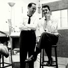 RAT PACK ALUMS FRANK SINATRA AND DEAN MARTIN IN THE STUDIO - 8X10 PHOTO (DA-325)