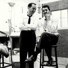 RAT PACK ALUMS FRANK SINATRA AND DEAN MARTIN IN THE STUDIO - 8X10 PHOTO (DA-325)