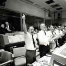MISSION CONTROL CELEBRATES AFTER APOLLO 13 SPLASHDOWN - 8X10 NASA PHOTO (EP-239)