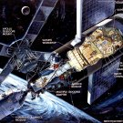 CUTAWAY ILLUSTRATION OF THE SKYLAB ORBITAL WORKSHOP - 8X10 NASA PHOTO (AZ068)