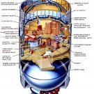 CUTAWAY DRAWING OF THE SKYLAB ORBITAL WORKSHOP - 8X10 NASA PHOTO (AZ067)