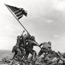 U.S. MARINES RAISING THE FLAG AT IWO JIMA ICONIC - 8X10 HISTORIC PHOTO (AZ089)