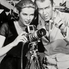 "JAMES STEWART AND GRACE KELLY IN ""REAR WINDOW"" - 8X10 PUBLICITY PHOTO (AZ115)"
