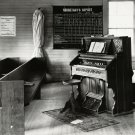 1936 IMAGE OF ALABAMA CHURCH ORGAN AND PEWS - 8X10 PHOTO (AZ169)
