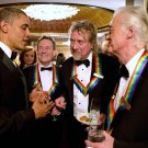 PRESIDENT BARACK OBAMA & LED ZEPPELIN AT KENNEDY CTR HONORS 8X10 PHOTO (ZZ-570)