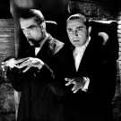 "BORIS KARLOFF & BELA LUGOSI IN THE FILM ""THE RAVEN"" 8X10 PUBLICITY PHOTO (AZ185)"