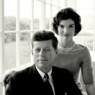 "JOHN F. KENNEDY WITH HIS WIFE JACQUELINE ""JACKIE"" - 8X10 PHOTO (ZZ-055)"
