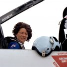 ASTRONAUT SALLY RIDE SET TO TAKE OFF T-38 JET AIRCRAFT 8X10 NASA PHOTO (AA-289)