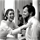 "CARRIE FISHER & GARY KURTZ ON SET ""THE EMPIRE STRIKES BACK"" 8X10 PHOTO (BB-151)"