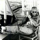 ASTRONAUT JOHN GLENN RELAXES ON USS NOA AFTER FRIENDSHIP 7 - 8X10 PHOTO (EP-074)