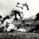 TY COBB SLIDES SAFELY IN TO THIRD HALL OF FAMER - 8X10 PHOTO (ZZ-060)