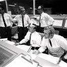 GENE KRANZ, CHRIS KRAFT IN MISSION CONTROL FOR GEMINI 7 8X10 NASA PHOTO (AA-340)