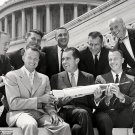 VICE-PRESIDENT RICHARD NIXON & MERCURY 7 ASTRONAUTS - 8X10 NASA PHOTO (AA-359)