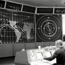 INFORMATION WALL IN MISSION CONTROL DURING GEMINI 8 - 8X10 NASA PHOTO (AA-395)