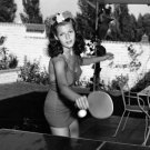 ACTRESS RITA HAYWORTH PLAYING PING PONG (TABLE TENNIS) - 8X10 PHOTO (AZ233)