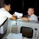 GENE KRANZ FLIGHT DIRECTOR IN MISSION CONTROL CENTER - 8X10 NASA PHOTO (AA-344)