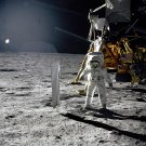 APOLLO 11 ASTRONAUT BUZZ ALDRIN ON MOON SURFACE - 8X10 NASA PHOTO (EP-234)