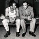 "MARLON BRANDO & MONTGOMERY CLIFT ON THE SET OF ""FROM HERE TO ETENITY"" 8X10 PHOTO (AB-210)"
