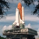 SPACE SHUTTLE ATLANTIS ROLLS TO LAUNCH PAD FOR STS-79 8X10 NASA PHOTO (EP-413)