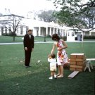 JOHN F. KENNEDY, JACQUELINE & JOHN, JR. ATTEND CHILDREN'S PARTY - 8X10 PHOTO (ZY-441)