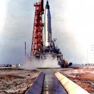 ASTRONAUT SCOTT CARPENTER LIFTS OFF IN AURORA 7 MERCURY 8X10 NASA PHOTO (EP-885)