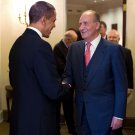 BARACK OBAMA & KING JUAN CARLOS I OF SPAIN IN OVAL OFFICE - 8X10 PHOTO (ZY-512)