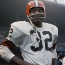 JIM BROWN LEGENDARY FOOTBALL HALL OF FAMER - 8X10 PHOTO (OP-107)
