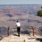 PRESIDENT BARACK OBAMA LOOKS OVER THE GRAND CANYON - 8X10 PHOTO (OP-110)