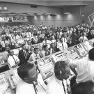LAUNCH CONTROL PERSONNEL WATCH LAUNCH OF APOLLO 11 - 8X10 NASA PHOTO (EP-946)