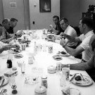 APOLLO 14 CREW ENJOYS THE TRADITIONAL PRE-FLIGHT BREAKFAST - 8X10 PHOTO (ZZ-204)