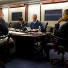 PRESIDENT BARACK OBAMA ON CONFERENCE CALL IN SITUATION ROOM 8X10 PHOTO (ZY-598)