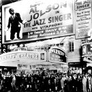 PREMIER OF AL JOLSON's 'THE JAZZ SINGER' AT WARNER THEATER - 8X10 PHOTO (CC-104)