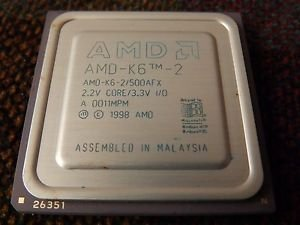 AMD-K6-2 500afx Vintage CPU Gold COLLECTIBLE LAST ONE