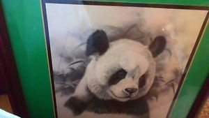 Panda by mark greenaway lithograph print