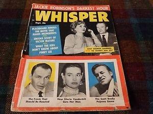 JACKIE ROBINSONS DARKEST HOUR - Rare Whisper mazagine 1950-59