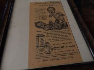 Johnson and Johnson baby powder advertisement 1930