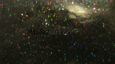 Holographic Black Tinsel