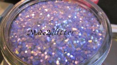 Iridescent Purple hexagon glitter
