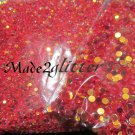 Red glitter dots