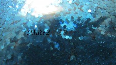Gem Blue Hexagon glitter