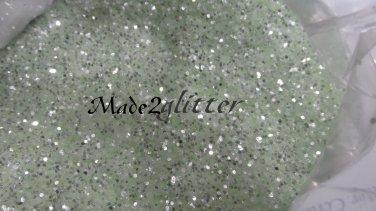 Mint Green Silver shining glitter