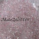 Pastel Pink hexagon silver shining glitter