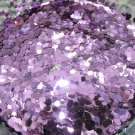 Lilac hexagon glitter