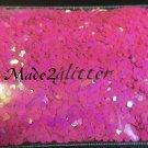 Hot Pink hexagon glitter