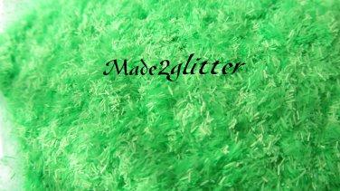 Neon Green Matte tinsel strips
