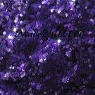 Purple matte hexagon glitter