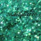 Micro iridescent green stars