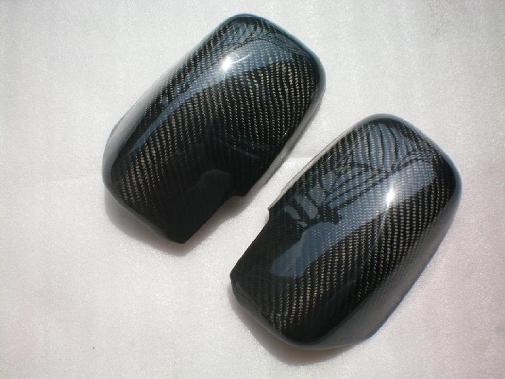 For Mitsubishi Lancer 2003-2007 Es Oz Rally Ralliart Carbon Fiber Mirror Covers