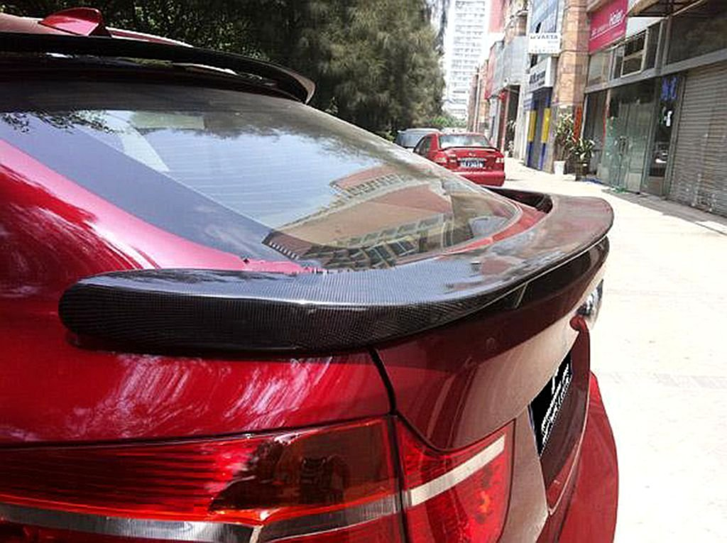 Carbon Fiber Rear Hamann Trunk Spoiler For BMW X6 E71 2008-2013