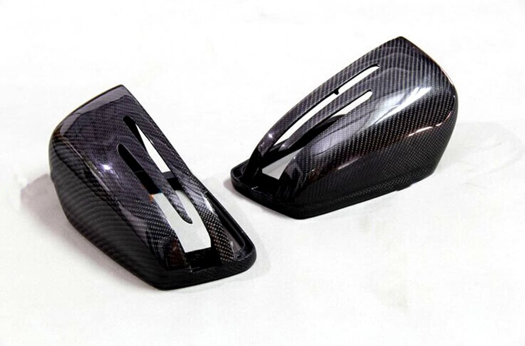 Carbon Fiber Mirror Covers Replacement For Mercedes Benz C-Class Coupe C204 2011-2013